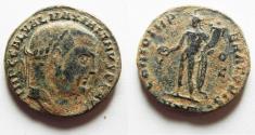 Ancient Coins - MAXIMIAN AE FOLLIS. NICE DESERT PATINA