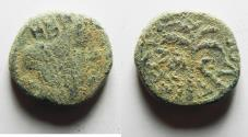 Ancient Coins - PHOENCIAI. TYRE. TYCHE/PALM TREE AE 14. 1ST CENTURY A.D