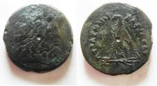 Ancient Coins - EGYPT. PTOLEMAIC KINGDOM PTOLEMY IV MONSTER AE DRACHM. AE42 . 61.15 GM