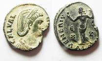 Ancient Coins - GALERIA VALERIA AE FOLLIS. ORIGINAL DESERT PATINA. ALEXANDRIA MINT