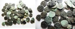 Ancient Coins - PARTIALLY CLEANED: LOT OF 68 JUDAEAN BRONZE COINS