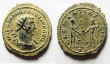 Ancient Coins - AS FOUND. ORIGINAL DESERT PATINA. BEAUTIFUL SILVERED PROBUS ANTONINIANUS