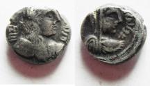 Ancient Coins - ARABIA. NABATAEAN KINGDOM. RABBEL II & GAMILAT SILVER DRACHM