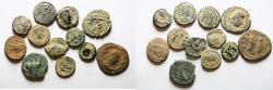Ancient Coins - LOT OF 12 ROMAN AE COINS