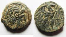 Ancient Coins - PTOLEMAIC KINGS of EGYPT. Ptolemy VIII Euergetes II (Physcon). 145-116 BC. Æ 25. KYRENE MINT