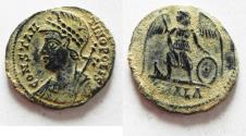 Ancient Coins - AS FOUND. ORIGINAL DESERT PATINA. COMMEMORATIVE CONSTANTINE I AE 3