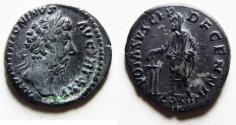Ancient Coins - ROMAN IMPERIAL. MARCUS AURELIUS SILVER DENARIUS