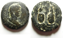 Ancient Coins - Egypt. Alexandria under Hadrian (AD 117-138). AE drachm (33mm, 21.73g). Struck in regnal year 18 (AD 133/4).
