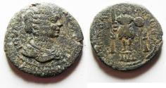 Ancient Coins - DECAPOLIS. ARABIA. RABBATHMOBA UNDER JULIA DOMNA AE 29