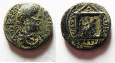 Ancient Coins - CHOICE: ORIGINAL DESERT PATINA: ARABIA. PETRA. SEPTIMIUS SEVERUS AE 21