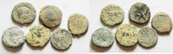 Ancient Coins - AS FOUND: ROMAN PROVENCIAL. AE COINS. DECAPOLIS MOSTLY