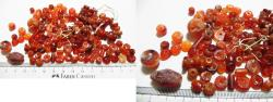 Ancient Coins - ANCIENT ROMAN. LOT OF CARNELIAN STONE BEADS. 100 - 200 A.D