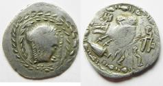 Ancient Coins - South Arabia. Saba'. AR unit (25mm, 5.50g). Struck 1st century BC-1st century AD. Imitating Athens 'New Style' coinage.