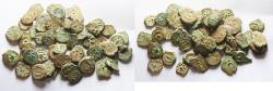 Ancient Coins - LOT OF 50 COINS: Judaea, Alexander Jannaeus, 103-76 BC, AE Prutah (Biblical Widow's Mite).