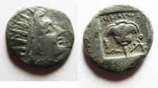 Ancient Coins - GREEK. Rhodos. Rhodes. AR drachm (14mm, 2.01g). Nikephoros magistrate. Struck c. 88-84 BC.