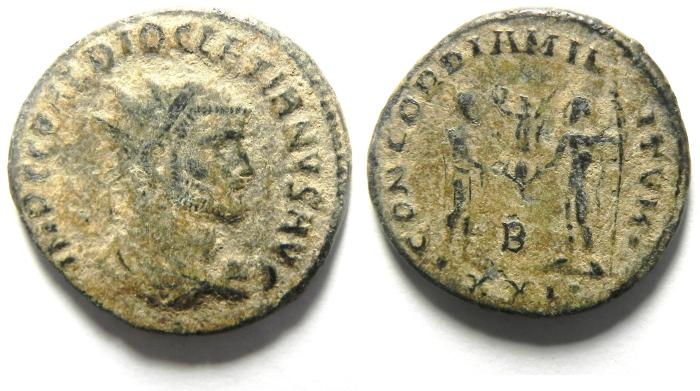 Ancient Coins - DIOCLETIAN ANTONINIANUS , AS FOUND , NICE