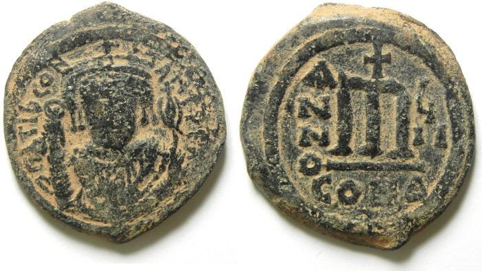 Ancient Coins - BYZANTINE ,  TIBERIUS II CONSTANTINE  AE FOLLIS