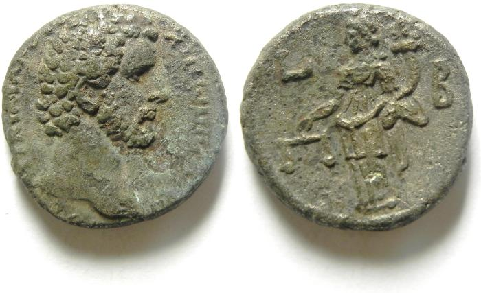 Ancient Coins - EGYPT , ALEXANDRIA , ANTONINUS PIUS BILLON TETRADRACHM