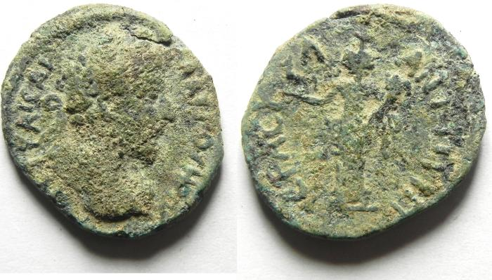 Ancient Coins - DECAPOLIS - ARABIA. Antiochia ad Hippum . LUCIUS VERUS , CHOICE AS FOUND, VERY RARE
