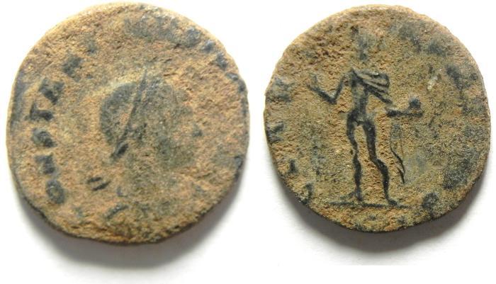Ancient Coins - CONSTANTIN II AE FOLLIS, RARE AS FOUND
