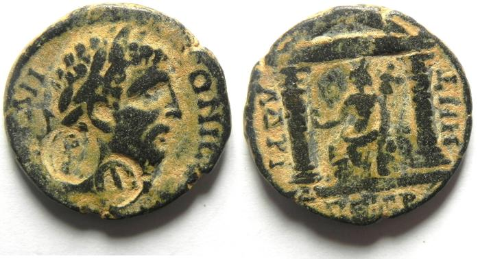 Ancient Coins - Roman Provincial. AE 26 . Arabia. Petra. Under Caracalla (AD 198-217). CHOICE QUALITY, VERY RARE FOR THIS TYPE!!!