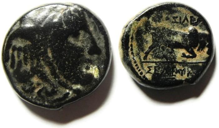 Ancient Coins - SELEUKID KINGDOM , SELEUKOS I AE 18