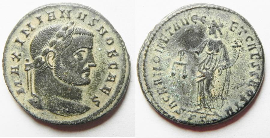 Ancient Coins - Maximianus. A.D. 286-305. Æ follis. Rome