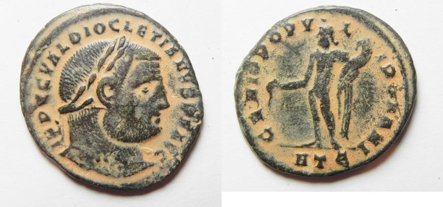 Ancient Coins - Diocletian Follis  - Heraclea Mint