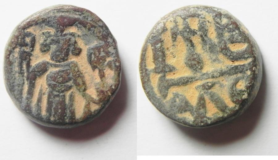 Ancient Coins - Byzantine Empire. Constans II Æ 12 Nummi . Alexandria Mint
