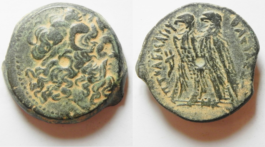 Ancient Coins - PTOLEMAIC Kingdom . ALEXANDRIA. Ptolemy VI Philometor 180-145 BC,Joint reign with Ptolemy VIII 170-164/3 BC.