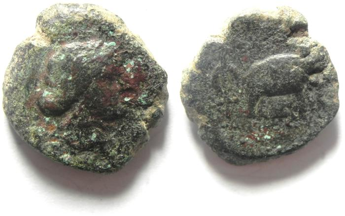 Ancient Coins - SELEUKID BRONZE COIN, AS FOUND