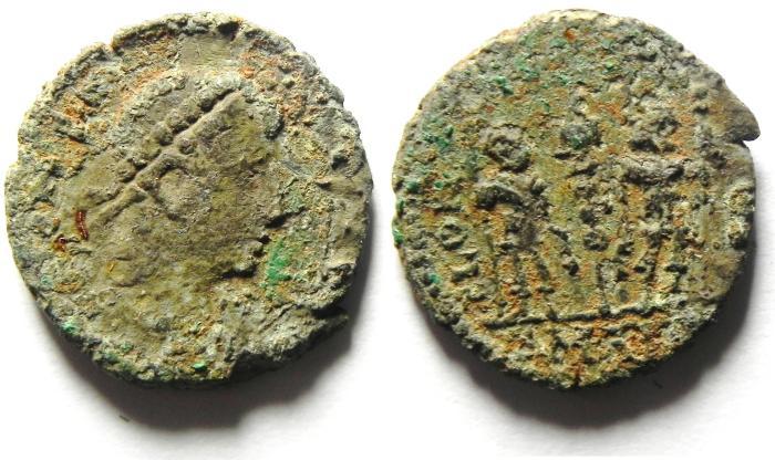 Ancient Coins - ROMAN AE 3 AS FOUND
