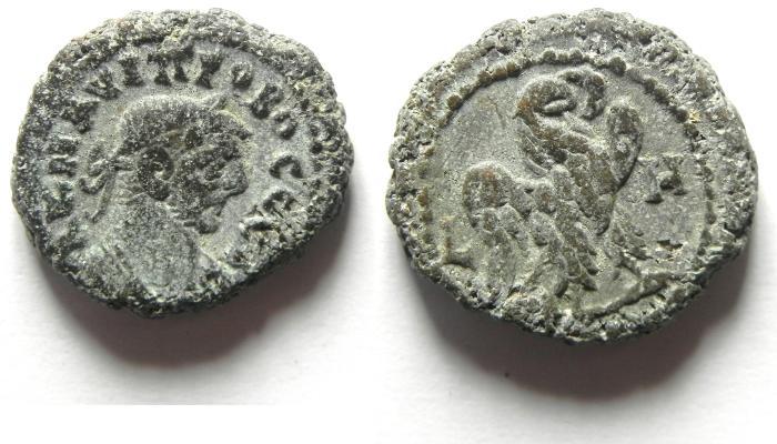 Ancient Coins - EGYPT , ALEXANDRIA , PROBUS POTIN TETRADRACHM