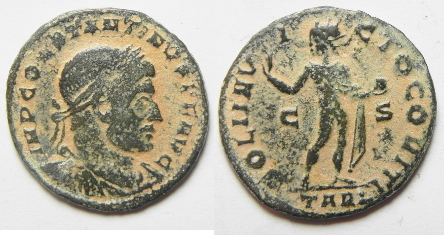 Ancient Coins - CONSTANTINE I THE GREAT AE FOLLIS. ARLES MINT