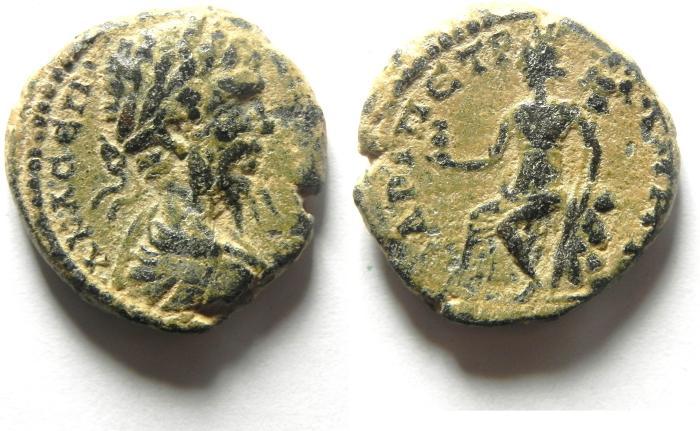 Ancient Coins - ARABIA , PETRA , Septimius Severus, AD 193-211, Æ 23mm , BEAUTIFULL COIN , DESERT PATINA