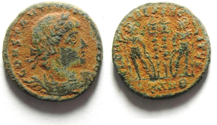 Ancient Coins - CONSTANTINE II AE 3 , AS FOUND , HIGH QUALITY