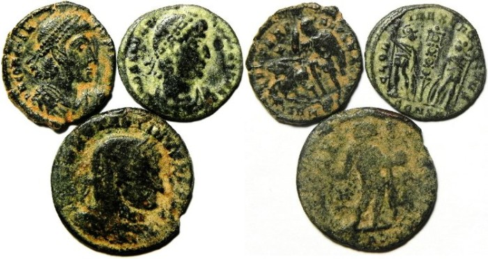 Ancient Coins - LOT OF 3 ROMAN BRONZE COINS