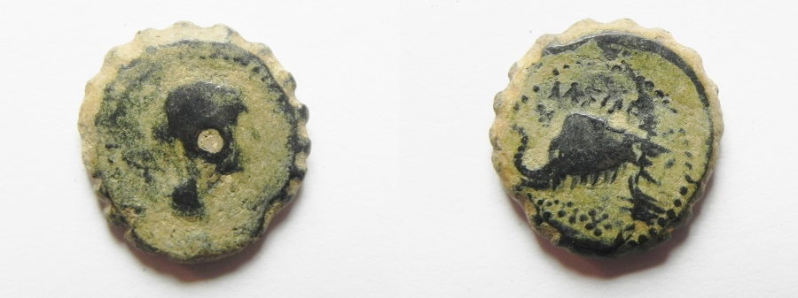 Ancient Coins - SELEUCID EMPIRE. Antiochus IV Epiphanes . 175-165/4 BC.  AE14