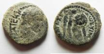 Ancient Coins - AS FOUND: JUDAEA, Judaea Capta. Caesarea Maritima. Titus. AD 79-81. AE 22