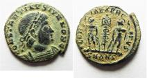 Ancient Coins - NICE CONSTANTINE II AE 3 . DESERT PATINA