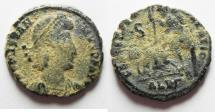 Ancient Coins - CONSTANTIUS II AE CENT. AS FOUND. ALEXANDRIA