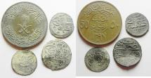World Coins - LOT OF 3 OTTOMAN COINS & 1 SAUDI ARABIAN.  SILVER