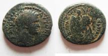 Ancient Coins - JUDAEA, Judaea Capta. Caesarea Maritima. Titus. AD 79-81. Æ 23