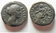 Ancient Coins - Egypt. Alexandria under Faustina Junior (Augusta, AD 147-175). Billon tetradrachm (24mm, 13.72g).
