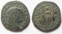 Ancient Coins - BEAUTIFUL SILVERED CONSTANTIUS I AE FOLLIS. ROME MINT