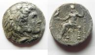 Ancient Coins - GREEK. Kings of Macedon. Alexander III 'the Great' (336-323 BC). AR tetradrachm (27mm, 14.77g). Babylon mint. Struck under Perdikkas, c. 323-320 BC.