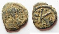 Ancient Coins - BYZANTINE. AE HALF FOLLIS.