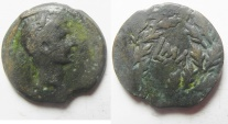 Ancient Coins - Egypt. Alexandria under Augustus (27 BC-AD 14). AE diobol (23mm , 6.64g). Struck in regnal year 41 (AD 10/11).