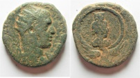 Ancient Coins - Trebonianus Gallus. Judaea. Caesarea Maritima Æ 27