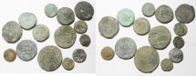 Ancient Coins - LOT OF 14 ROMAN PROVINCIAL AE COINS